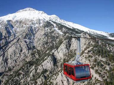 На фуникулере на гору Олимпос: Турция с высоты