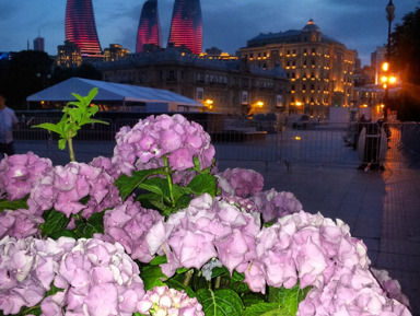 Лучшие панорамы вечернего и ночного Баку!
