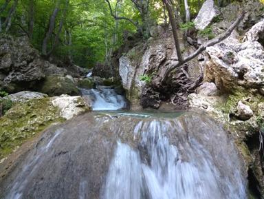 Водопады реки Темиар, хребет Иограф, Узенбашская тропа