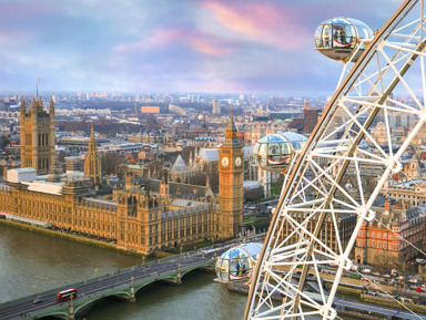 Выше птичьего полета: колесо обозрения London Eye